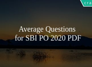 Average Questions for SBI PO 2020 PDF