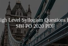 High Level Syllogism Questions for SBI PO 2020 PDF