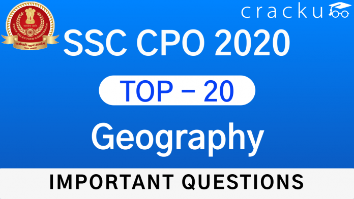 SSC CPO Geography Questions