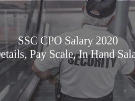 SSC CPO Salary 2020
