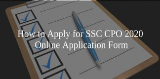 How to Apply for SSC CPO 2020