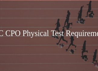 SSC CPO Physical Test Requirements