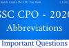 SSC CPO Abbreviations Questions