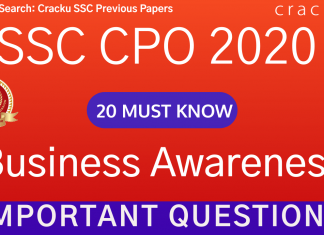 Business Awareness Questions for SSC CPO PDF