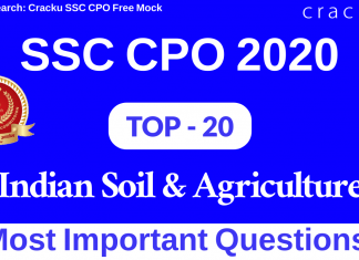 Indian Soil & Agriculture Questions for SSC CPO
