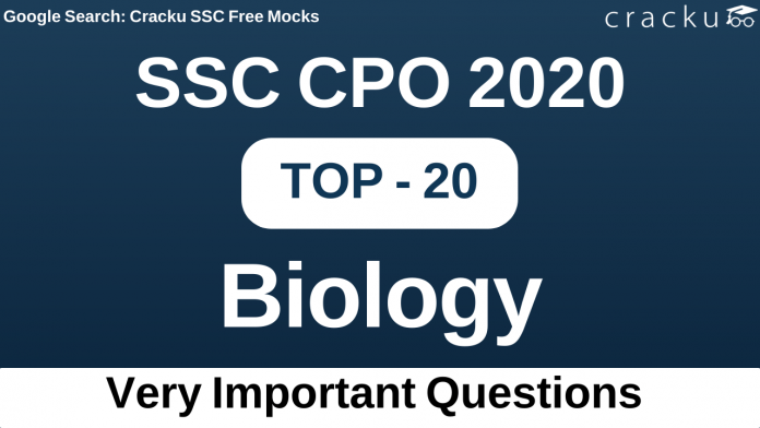 SSC CPO Biology Questions