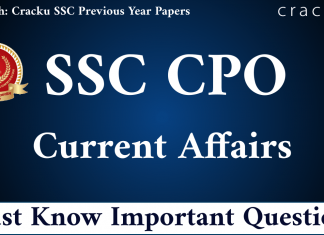 Top 20 SSC CPO Important Current Affairs Questions PDF