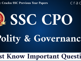 SSC CPO Polity & Governance Questions PDF