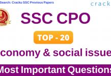 Top-20 SSC CPO Economics Questions Hindi PDF