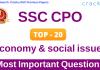 Top-20 SSC CPO Economics Questions PDF