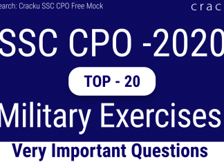 SSC CPO Military Exercises Questions PDF