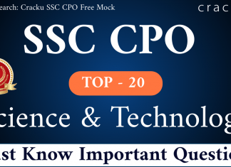 SSC CPO Science and Technology Questions