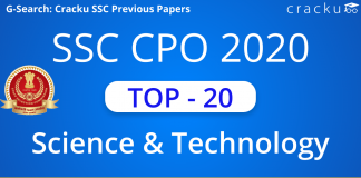 Top 20 SSC CPO Science and Technology Questions