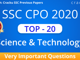 SSC CPO Science and Technology Questions PDF