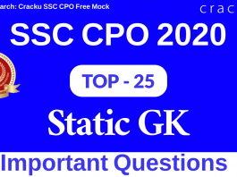 TOP 25 SSC CPO Static Gk Questions PDF