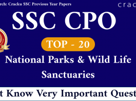 National Parks & Wild Life Sanctuaries Questions