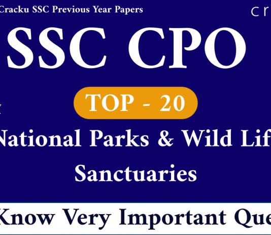 National Parks & Wild Life Sanctuaries Questions