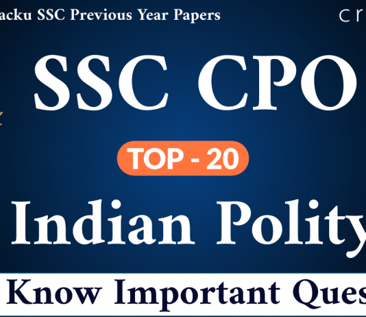 SSC CPO Indian Polity Questions