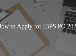 How to Apply for IBPS PO 2020