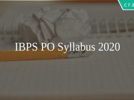 IBPS PO Syllabus 2020
