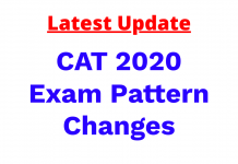 CAT 2020 Exam Pattern Change