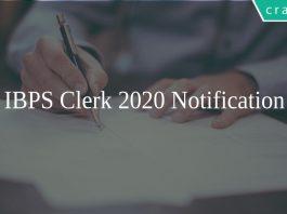 IBPS Clerk 2020 Notification