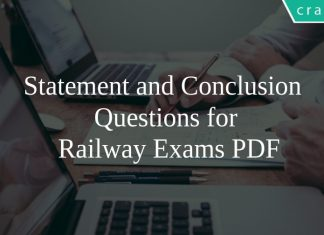 Statement and Conclusion Questions for Railway Exams PDF