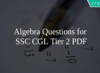 Algebra Questions for SSC CGL Tier 2 PDF