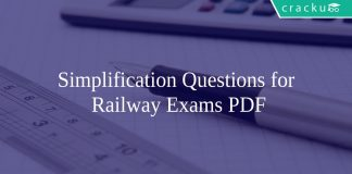 Simplification Questions for Railway Exams PDF