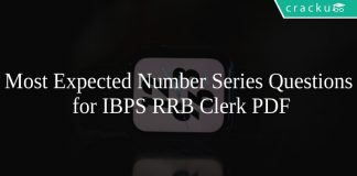 Most Expected Number Series Questions for IBPS RRB Clerk PDF