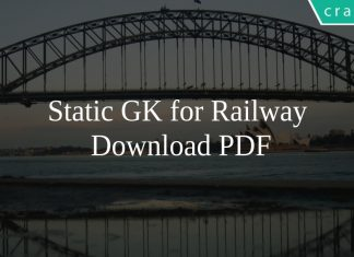 Static GK for Railway PDF