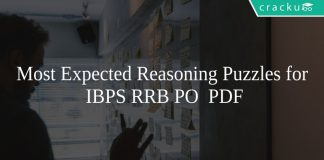 Most Expected Reasoning Puzzles for IBPS RRB PO PDF