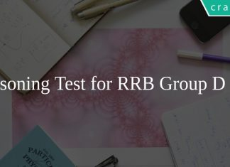 Reasoning Test for RRB Group D PDF
