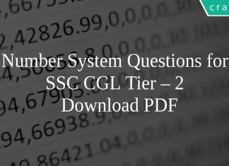 Number System Questions for SSC CGL Tier – 2 PDF