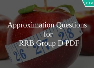 Approximation Questions for RRB Group D PDF