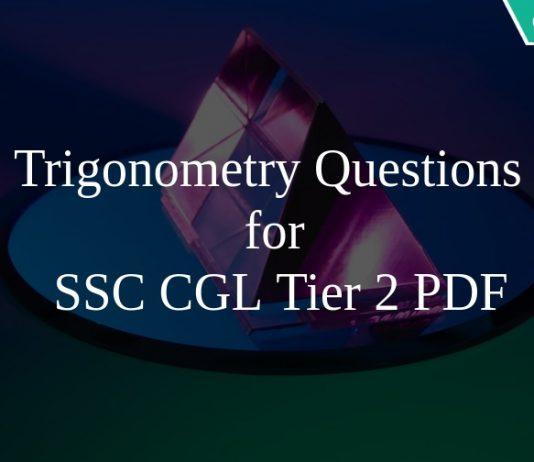 Trigonometry Questions for SSC CGL Tier 2 PDF
