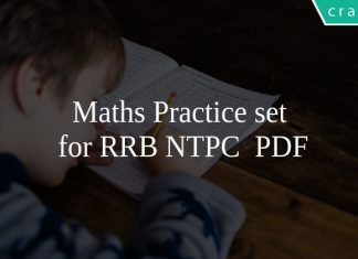 Maths Practice set for RRB NTPC PDF