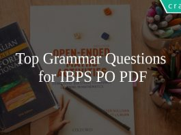 Top Grammar Questions for IBPS PO PDF