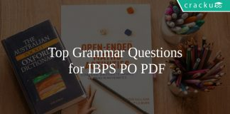 Top Grammar Questions for IBPS PO PDF
