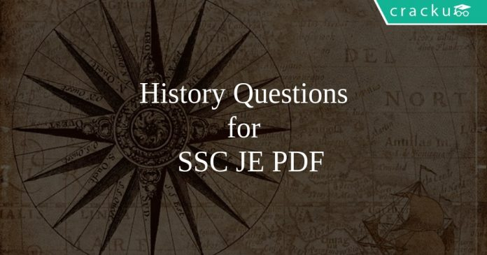 History Questions for SSC JE PDF