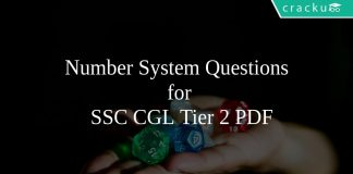 Number System Questions for SSC CGL Tier 2 PDF