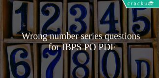 Wrong number series questions for IBPS PO PDF
