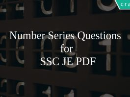 Number Series Questions for SSC JE PDF