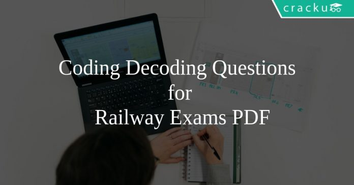 Coding Decoding Questions for Railway Exams PDF