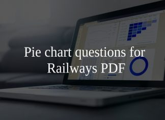 Pie chart questions for Railways PDF