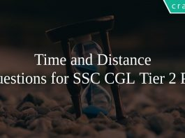 Time and Distance Questions for SSC CGL Tier 2 PDF