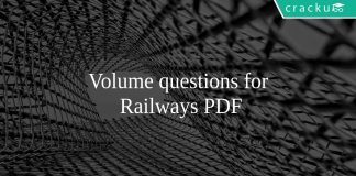 Volume questions for Railways PDF