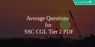 Average Questions for SSC CGL Tier 2 PDF