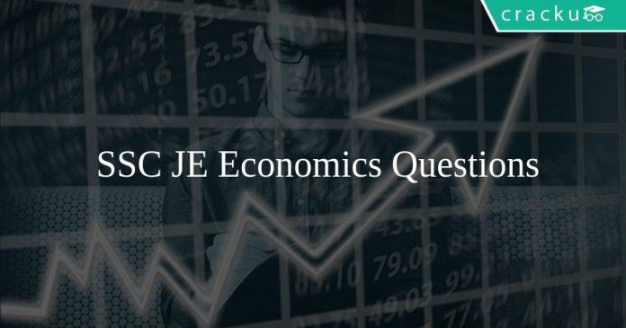 SSC JE Economics Questions