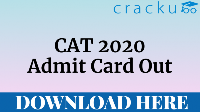 CAT 2020 Admit Card Download